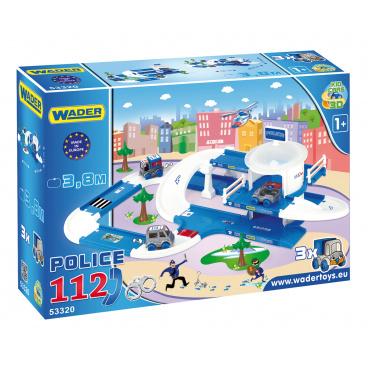 WADER Kid Cars 3D Policie plast 3,8m v krabici 59x40x15cm 12m+