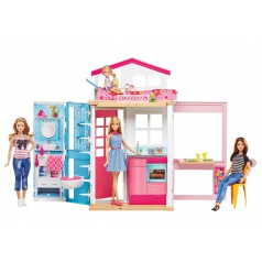 Mattel Barbie  DVV48 DŮM 2V1 A PANENKA