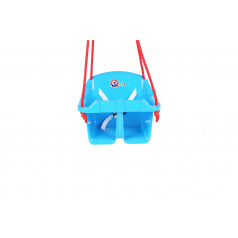 Teddies Houpačka Baby plast modrá nosnost 20kg 36x30x29cm 24m+