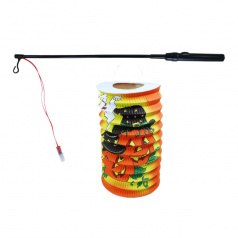 Rappa Lampion dýně Halloween 15 cm se svítící hůlkou 39 cm