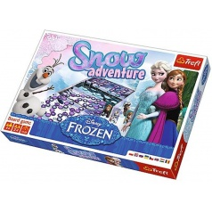 Sněhové dobrodružství Ledové království/Frozen společenská hra v krabici Trefl