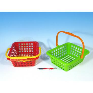 LORI Nákupní košík plast 30x11x27cm asst 4 barvy 12m+