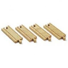 BRIO 33334 Krátké koleje rovné, 108 mm, 4 ks příslušenství k vláčkodráhám