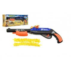 Pistole na měkké kuličky plast 25cm v krabičce 27x10x4cm