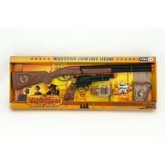 Teddies Kovbojská sada kolt puška 50cm plast 5ks v krabici