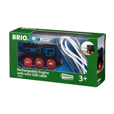 Brio 33599 Elektrická lokomotiva nabíjecí přes mini USB kabel