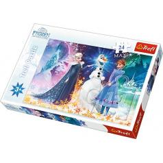 Trefl puzzle 24 maxi  - Ve světle hvězd / Ledové království