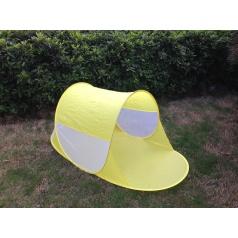 Teddies Stan plážový žltý 140x70x62cm samorozkládací polyester / kov v látkovej taške
