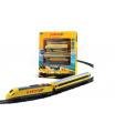 Rappa Vlak žlutý RegioJet s kolejnicemi 18ks plast se zvukem a světlem v krabici 38x43x6cm