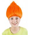 paruka skřítek troll, oranžová