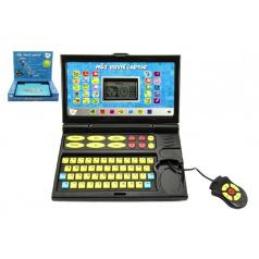Teddies Můj první laptop černomodrý 50 programů na baterie se zvukem v krabici 33x24x7cm