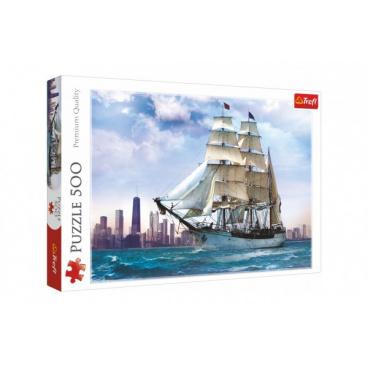 Trefl Puzzle Plachtění kolem Chicaga 500 dílků 48x34cm v krabici 40x26,5x4,5cm