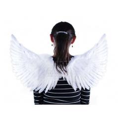 Rappa Andělská křídla bílá se třpytkami