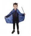Karnevalový kostým plášť čarodějnický modrý, dětský
