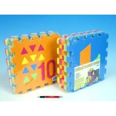 Penové puzzle Počítanie/Tvary 30x30cm 10ks v sáčku