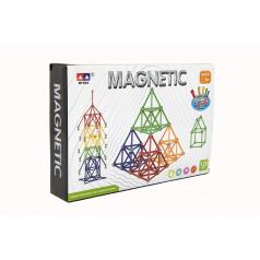 Teddies Magnetická stavebnica 120 ks v krabici 28x19x5cm