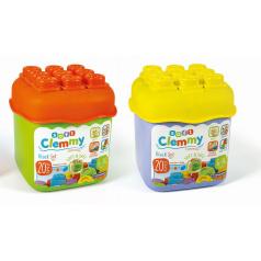 Clementoni Clemmy baby - 20 barevných kostek v kyblíku, základní barvy
