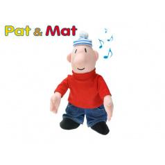 mikro trading Postavička Mat plyšová 24cm na baterie se zvukem 0m+ Pat a Mat