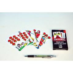 Mariáš jednohlavý společenská hra karty v papírové krabičce 6x11cm