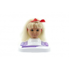 Hamiro Česací hlava blond s doplňky v krabici 24x28x19cm