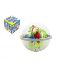 Teddies Hlavolam edukační koule 100 kroků plast 12cm v krabičce 12x12x12cm CZ design