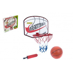 Basketbalový koš + míč s pumpičkou 49,5x41,5x4cm