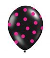 Rappa Nafukovací balónek s potiskem černý 30 cm