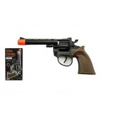 Teddies Pištoľ kapslovka plast 8 rán 20cm na karte