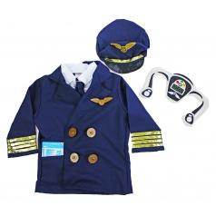 karnevalový dětský kostým pilot vel. S