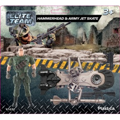 Plastica figurky vojáků Hammerhead & Army Jet Skate