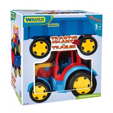 WADER Traktor Gigant s vlekem plast 102cm v krabici