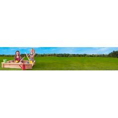 Woody 10313 Pískoviště dřevěné - čtvercové, natur, se sítí, 120x120cm