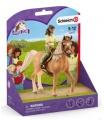 Schleich 42517 Černovláska Sarah a kůň Mystery