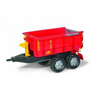 ROLLYTOYS Vlečka za traktor vyklápěcí červená