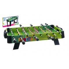 Teddies Kopaná/Fotbal společenská hra 71x36cm dřevo kovová táhla bez počítadla v krabici 67x7x36cm