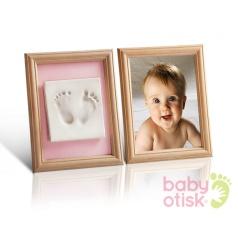 BABY OTISK - Sada pro otisk s barevnými paspartami – růžová, modrá