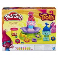 Hasbro Play Doh B9027 Trolls vlasový salon