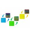 Pop-it! Bubble pops - Praskající bubliny silikon antist. spol. hra 4 barvy zvířecí vzor 12,5x12,5cm v sáčku