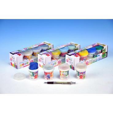 Teddies Modelína/Plastelína 4ks asst 4 druhy v krabici 23x6,5x6cm