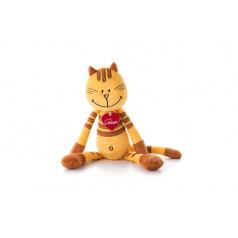 Lumpin plyš Kočka Pipa Lipa, střední - žlutá (38 cm)