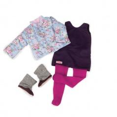 Our Generation obleček pro panenky 46cm Kabátek s kytičkami
