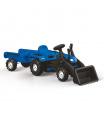 Šlapací traktor Ranchero s vlečkou a nakladačem