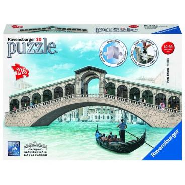 Ravensburger 3D puzzle Rialto most, Benátky 216 dílků 3D