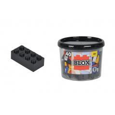 Blox 40 Kostičky černé v boxu