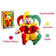 Teddies Kašpárek česky hovoriaci rozprávky plyš 30 cm na batérie v krabici 26x36x15cm