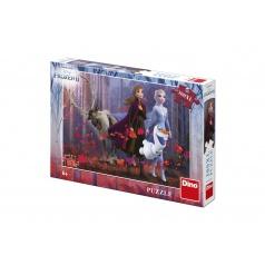 Dino Puzzle XL Ledové království II/Frozen II  300dílků 47x33cm v krabici 28x19x4cm