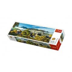 Trefl Puzzle jazero Schliersee panoramic 1000 dielikov 97x34cm v krabici 40x13x7cm
