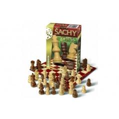 Bonaparte Šach cestovný spoločenská hra drevo v krabičke 10,5x15,5x3cm