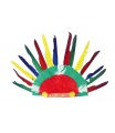 Teddies Indiánská čelenka 60x35cm v sáčku karneval