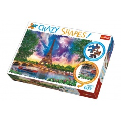 Trefl Puzzle Nebo nad Parížom 600 dielikov Crazy Shapes 68x48cm v krabici 40x27x6cm